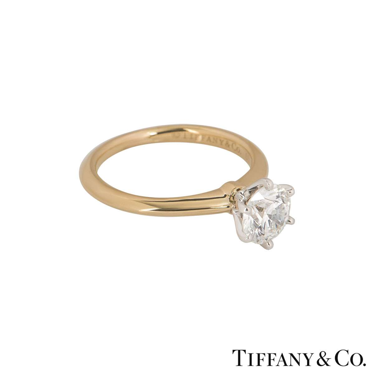 Tiffany & Co. Rose Gold Diamond Setting Ring 0.95ct H/VS1 XXX